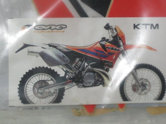 GR-KT 124 ONE INDUSTRIES DEKALKIT KTM EXC 01, KTM 125-520 EXC 01